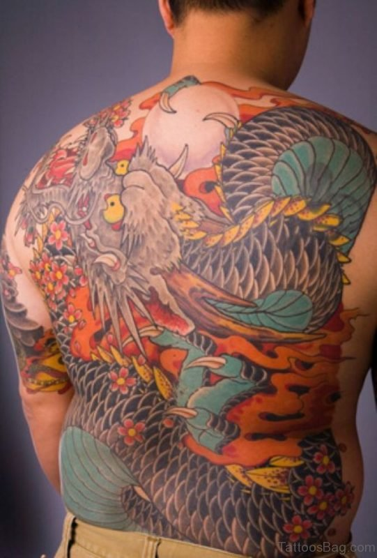 Colored Dragon Tattoo