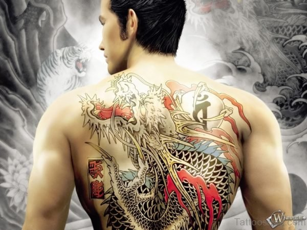 Colored DragonTattoo