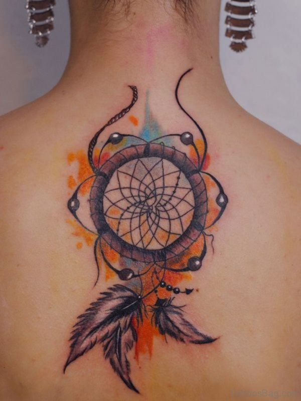 Colored Dreamcatcher Tattoo