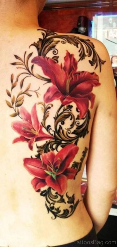 Colored Flowers Tattoo