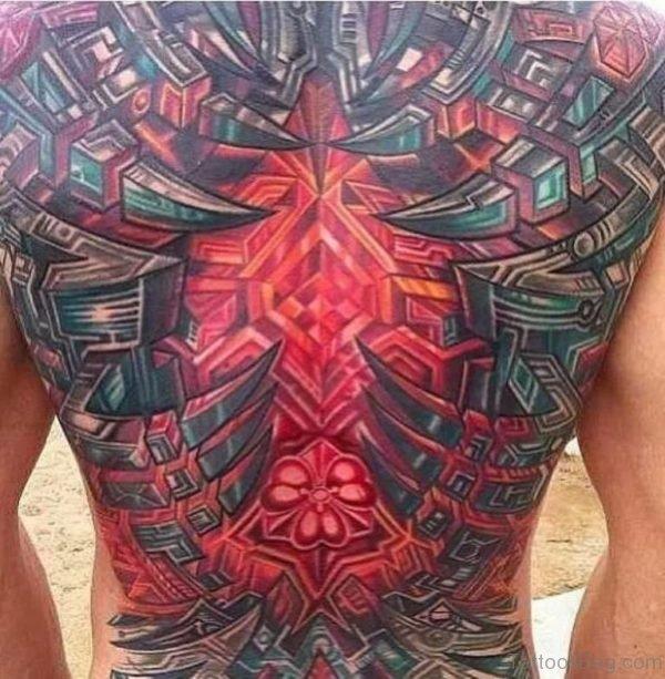 Colored Geometric Tattoo