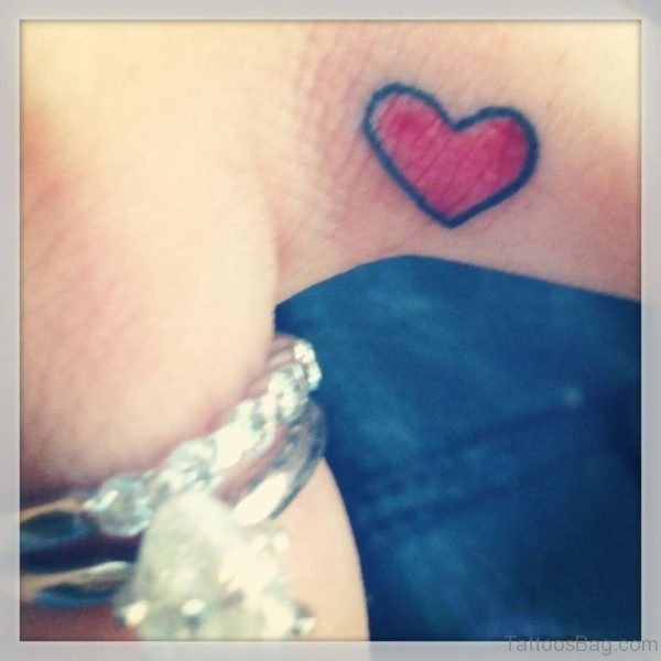 Colored Heart Tattoo