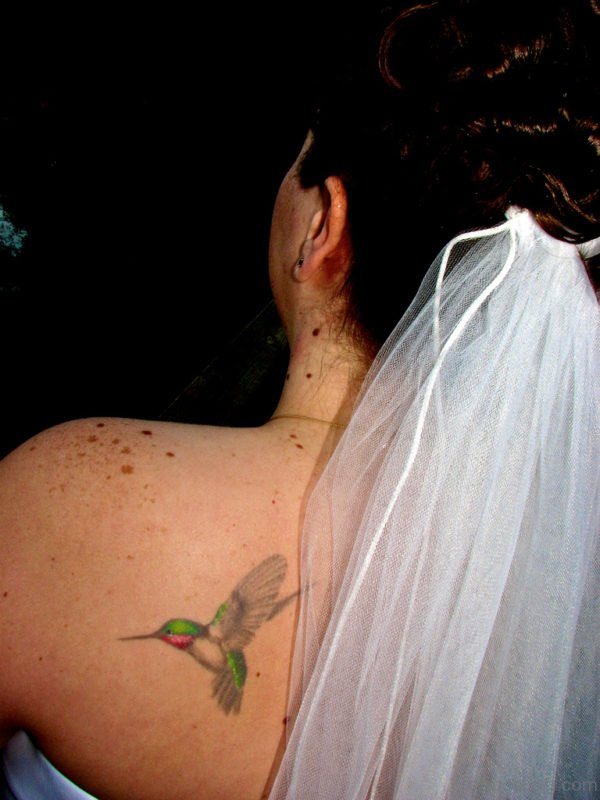 Hummingbird Tattoo  On Back