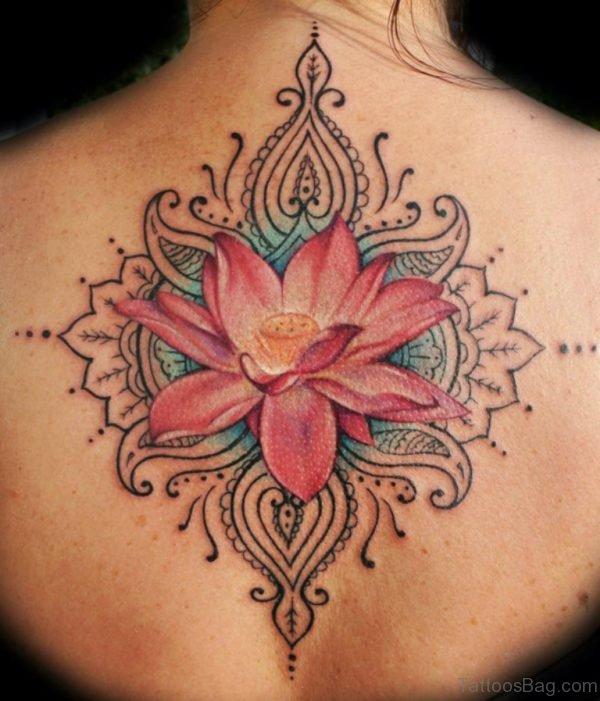 Lotus Flower Tattoo On Back