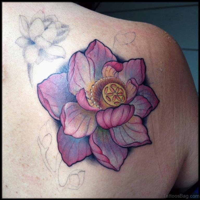 96 Attractive Lotus Flower Tattoos For Back