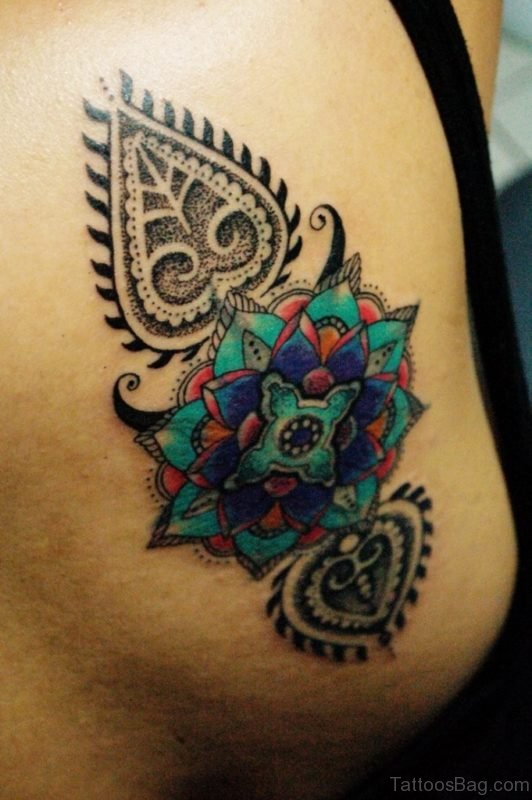 Colored Mandala Tattoo Design
