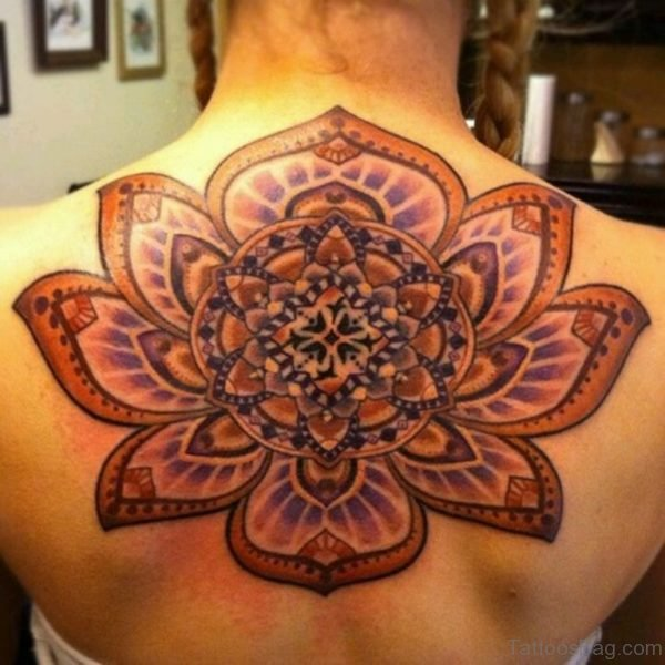 Colored Mandala Tattoo