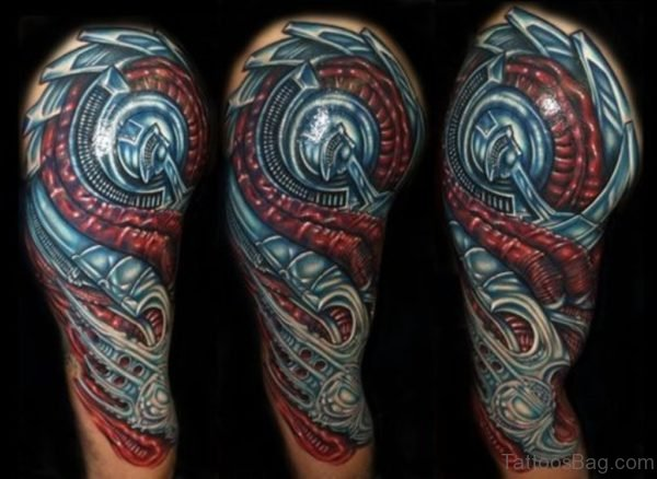 Colored Mechanical  Tattoo