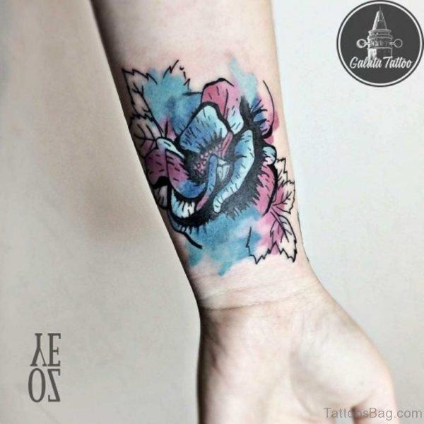 Colored Roe Tattoo Design