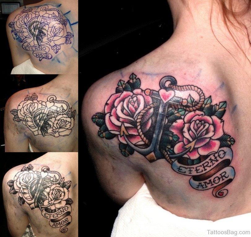 57 pleasant black rose tattoo designs. Black Bedroom Furniture Sets. Home Design Ideas