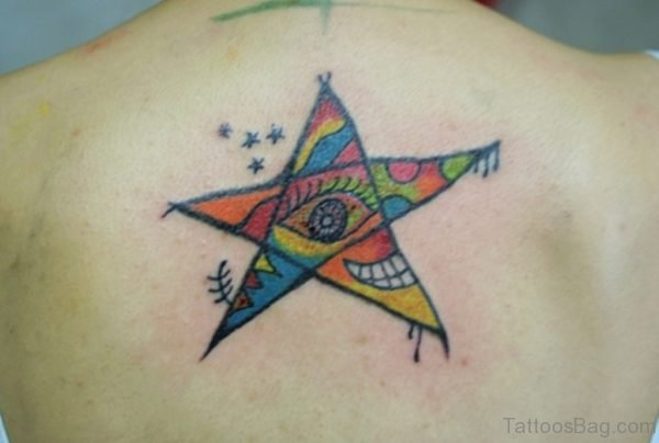 Colored Star Tattoo