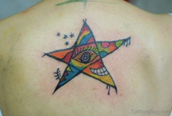 Colored Star Tattoo