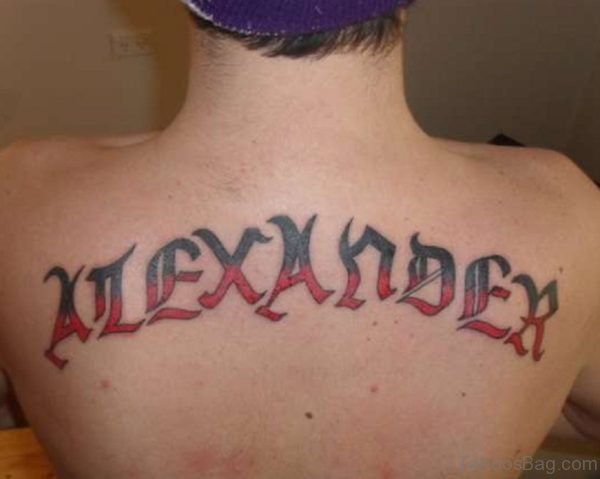 Colored Wording Tattoo