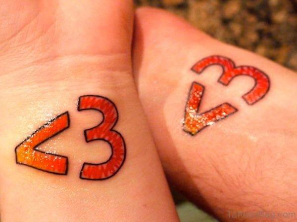 Colored Wrist Tattoo