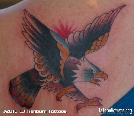 Colorful Eagle Tattoo