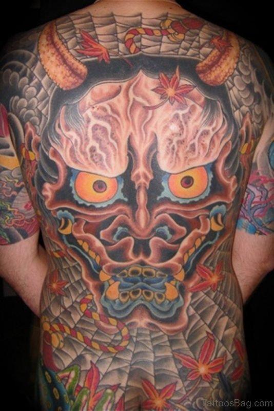 Colorful Hannya Mask  Tattoo