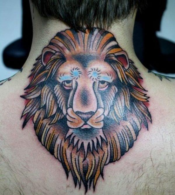 Colorful Lion Tattoo Design