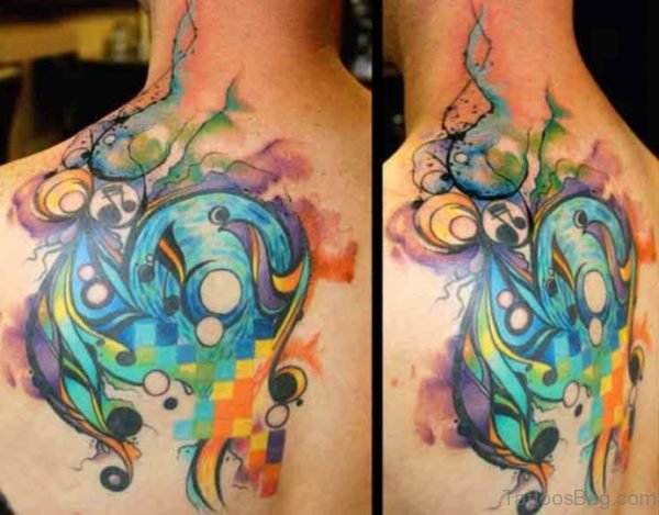 Colorful Music Tattoo
