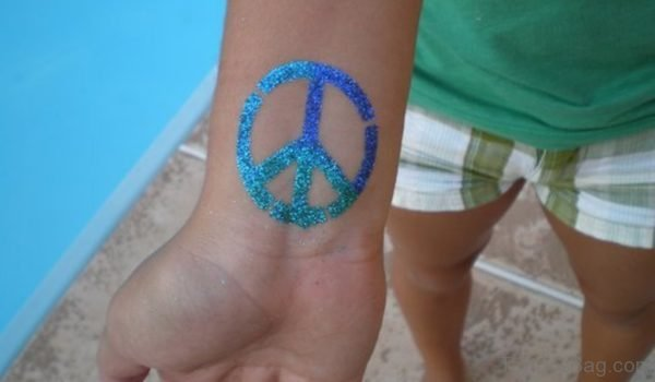 Colorful Peace Tattoo