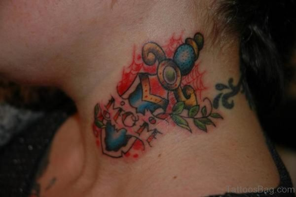 Colorful Ripped Skin Tattoo