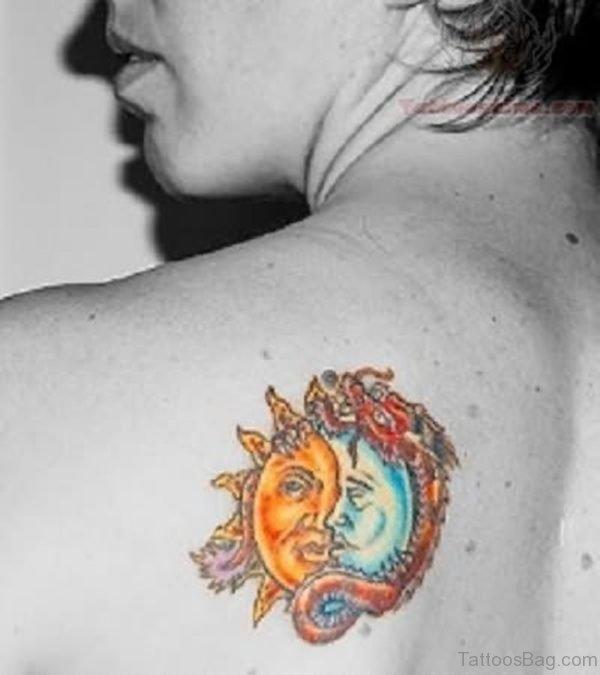 Colorful Sun Tattoo