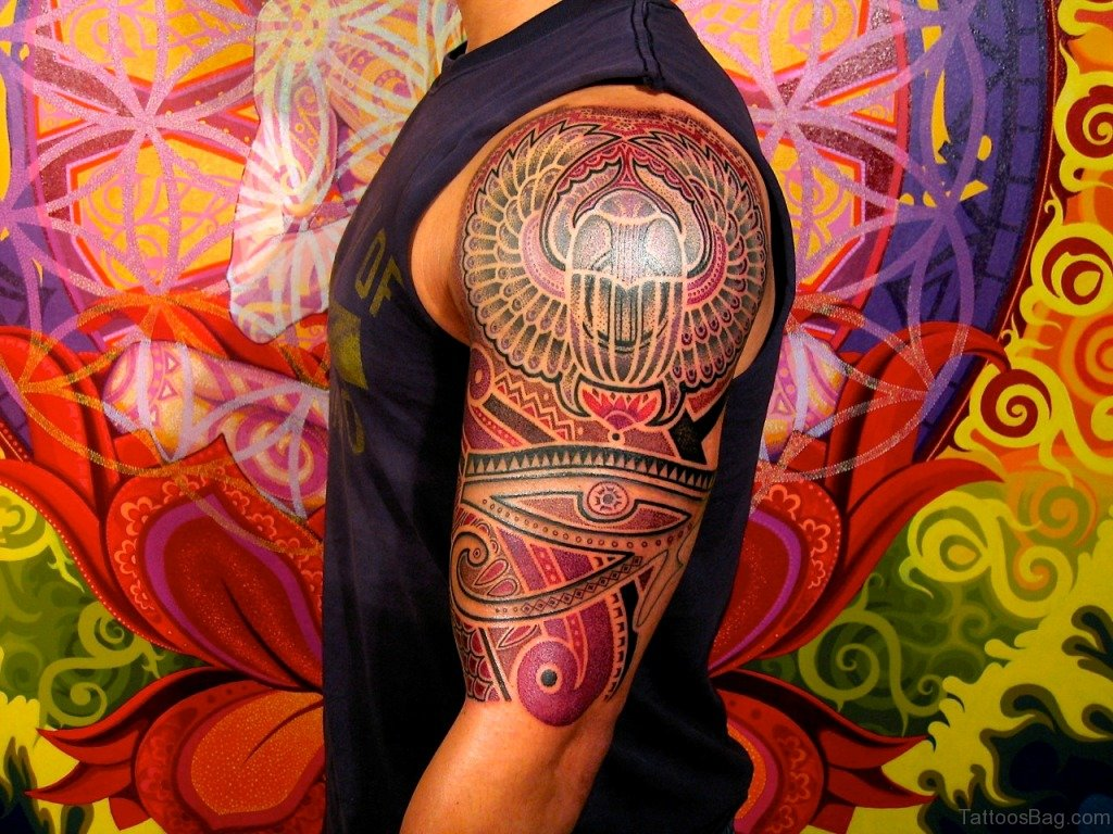 47 graceful egyptian shoulder tattoos. Black Bedroom Furniture Sets. Home Design Ideas