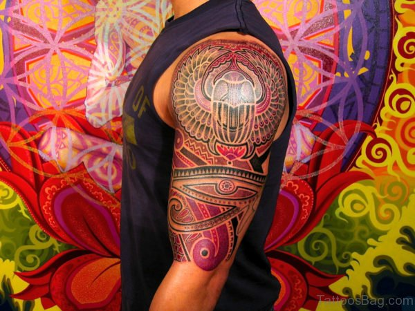Colorful Tribal Tattoo