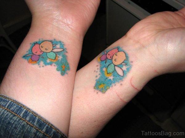 Colorful Wrist Tattoo