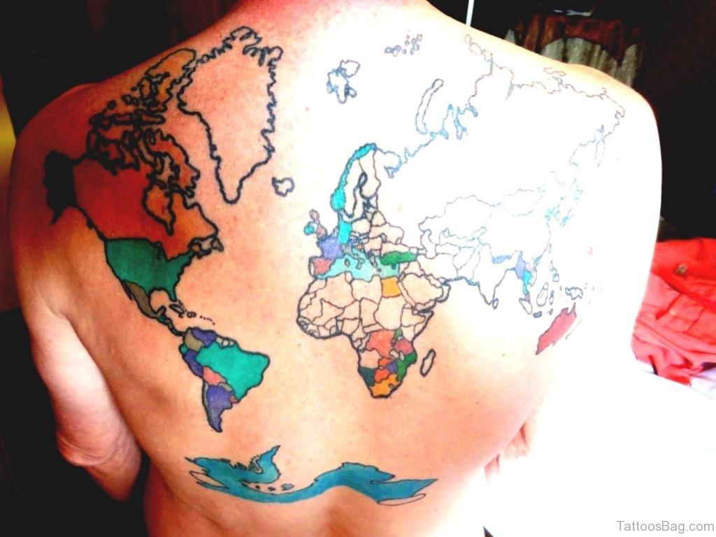 Тату карта мира