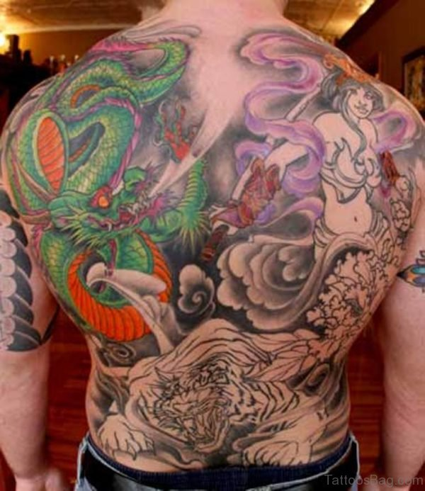Colored Japanese Tattoo