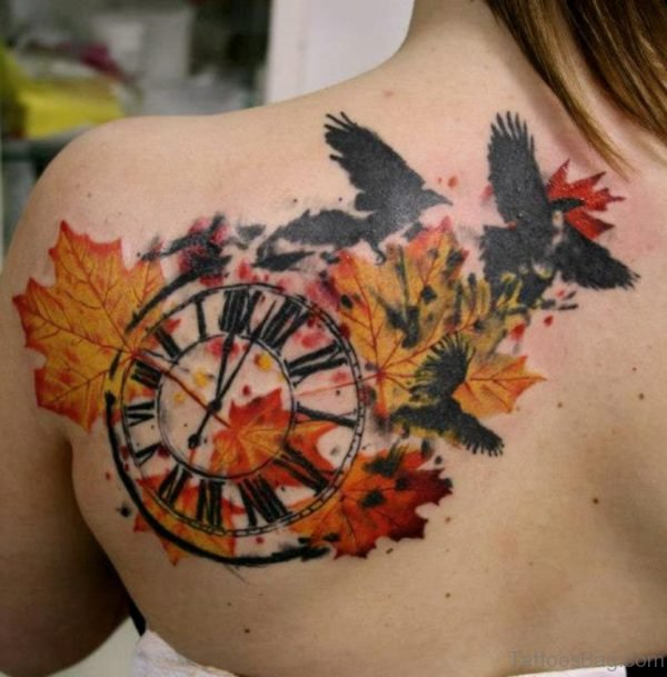 Compass And Poppy Tattoo