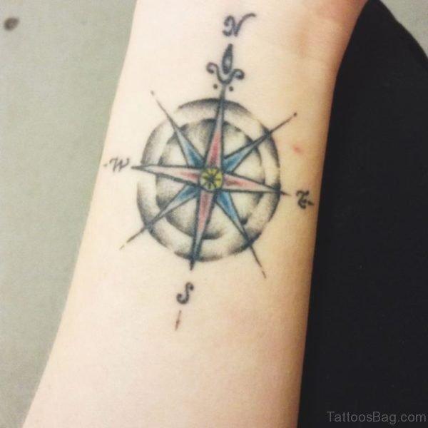 Compass Tattoo On Wrist