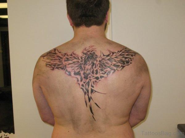 Cool Back Phoenix Tattoo
