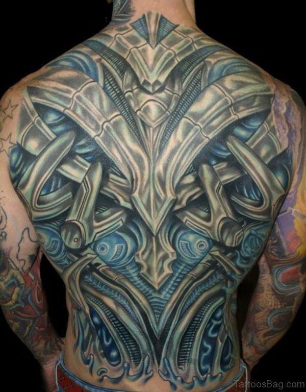 Cool Biomechanical Tattoo