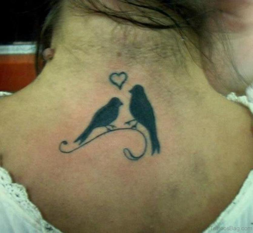 Tattoo designs love birds