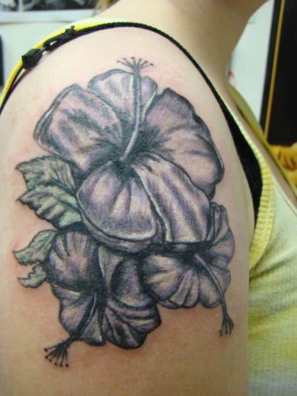Cool Black Hibiscus Tattoo