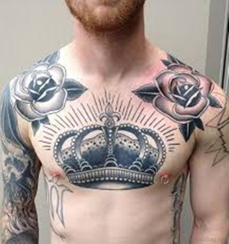50 Chest Quote Tattoo Designs For Men: 50 Glorious Chest Tattoos For Men