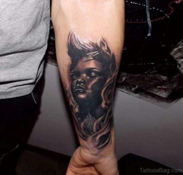 Cool Dark Black Tattoo On Wrist