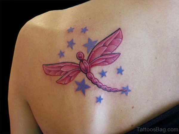 Cool Dragonfly Tattoo Design