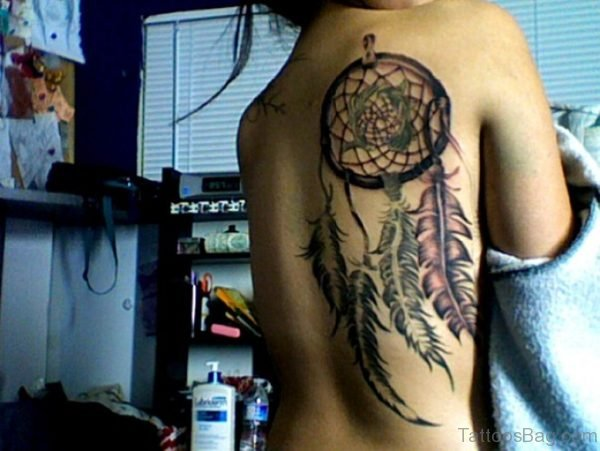 Cool Dreamcatcher Tattoo Design