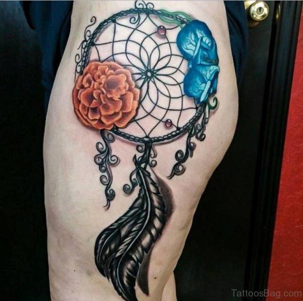 Cool Dreamcatcher Tattoo Design