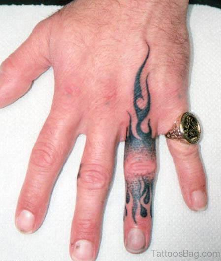 Cool Finger  Tattoo
