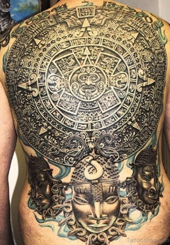 Cool Full Back Tattoo