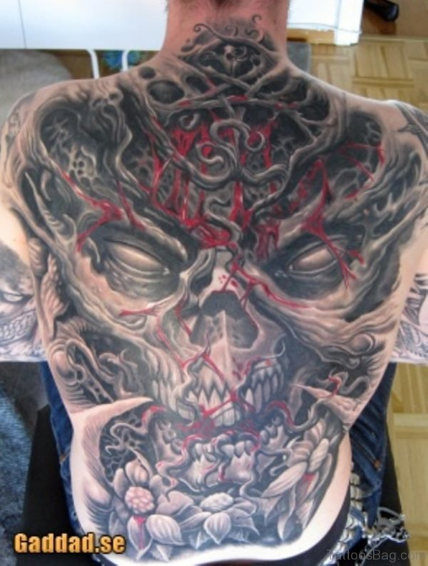 Cool Horror Tattoo Design