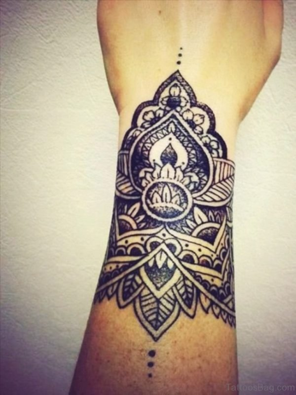 Cool Mandala Tattoo On Wrist