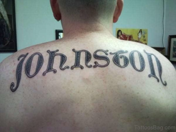 Fantastic Name Tattoo On Lower Back