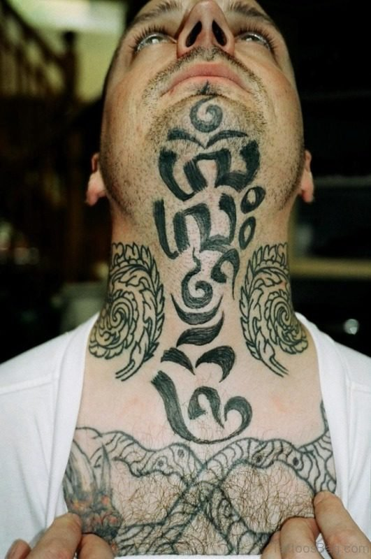 Cool Neck Tattoo For Men