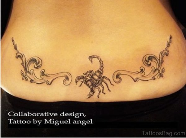 Cool Scorpion Tattoo On Lower Back