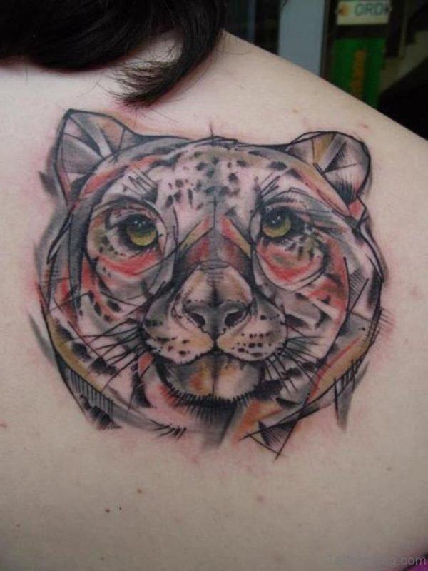 Cool Tiger Face Tattoo