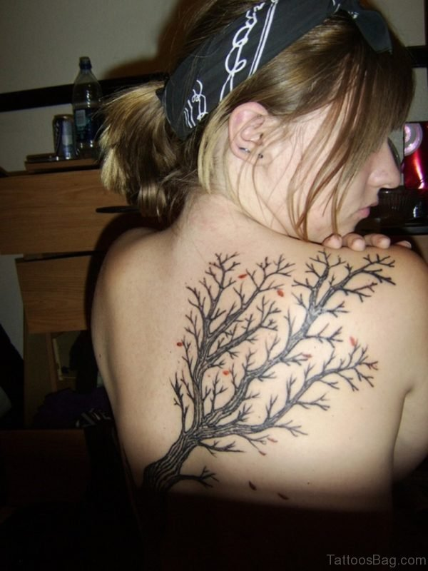 Cool Tree Tattoo Design